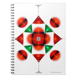Martini glass snowflake note books
