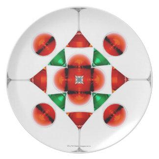 Martini glass snowflake plate