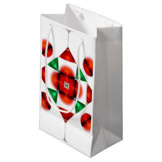Martini glass snowflake small gift bag
