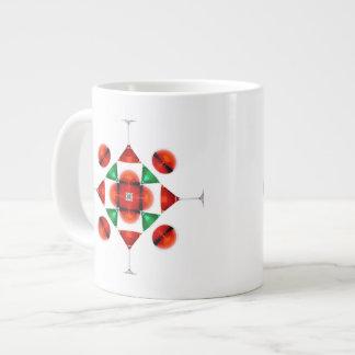 Martini glass snowflake jumbo mugs