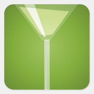 Martini Glass Square Sticker