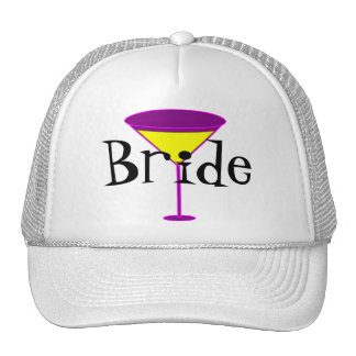 Martini Glasses Bride Cap