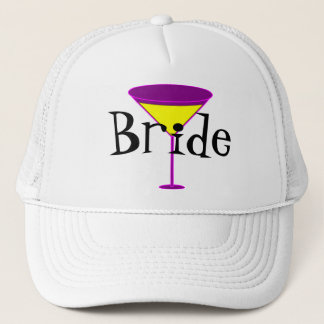 Martini Glasses Bride Trucker Hat
