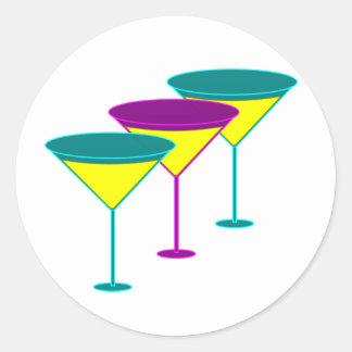 Martini Glasses Classic Round Sticker