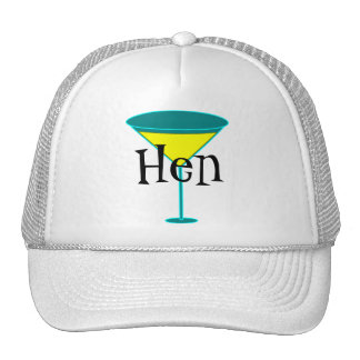 Martini Glasses Hen Cap