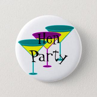 Martini Glasses Hen Party Badge