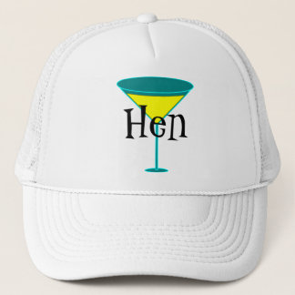Martini Glasses Hen Trucker Hat