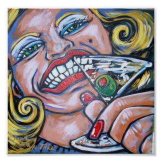 Martini grin posters