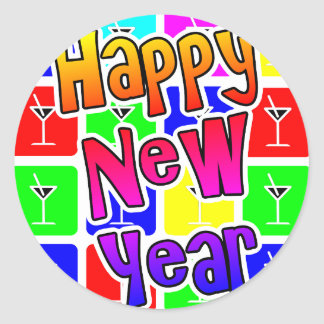 MARTINI HAPPY NEW YEAR ROUND STICKER