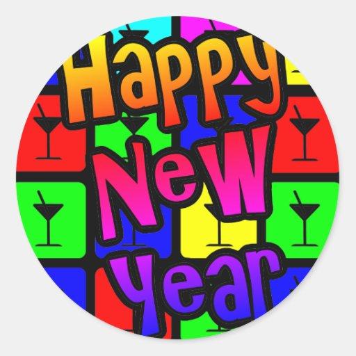 MARTINI HAPPY NEW YEAR STICKERS