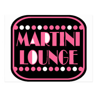 Martini Lounge Postcard