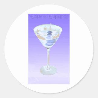 martini madness round stickers