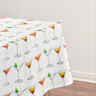 Martini Manhattan Cosmopolitan Drinks Cocktails Tablecloth