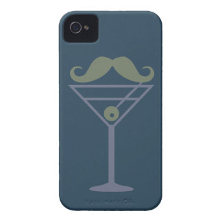 Martini Moustache custom Blackberry case