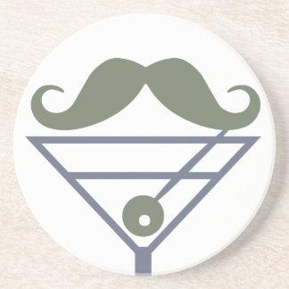 Martini Moustache custom coaster