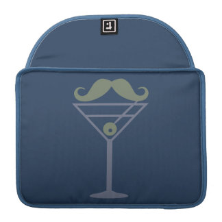 Martini Moustache custom MacBook sleeve