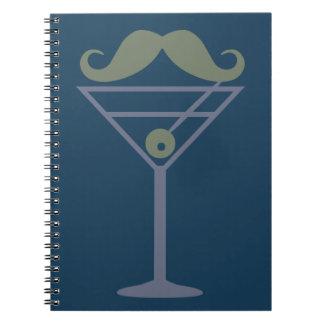 Martini Moustache custom notebook