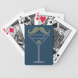 Martini Moustache custom playing cards