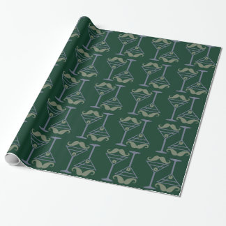 Martini Moustache wrapping paper