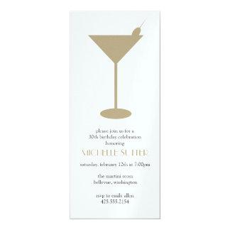"""Martini Party Invitation 4"""" X 9.25"""" Invitation Card"""