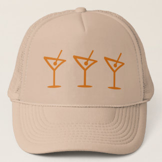 Martini Pattern Trucker Hat