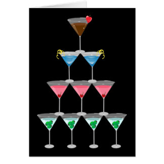 Martini Pyramid Card