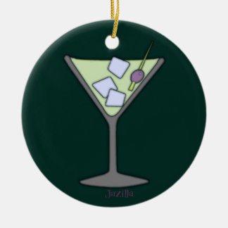 Martini Quick Lime Round Ceramic Decoration