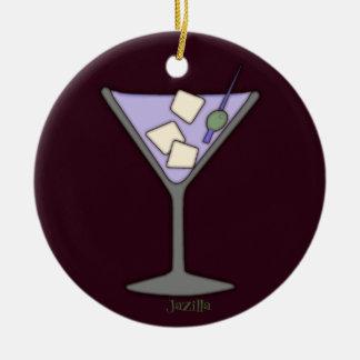 Martini, Quick! Round Ceramic Decoration