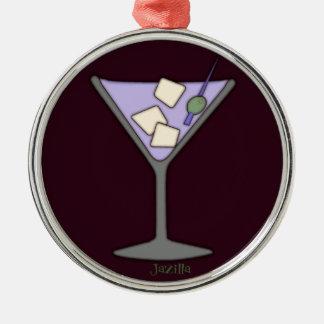 Martini, Quick! Silver-Colored Round Decoration