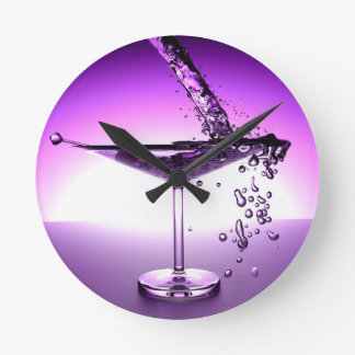 Martini Round Clock