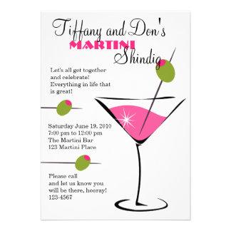 Martini Shindig Custom Invitation