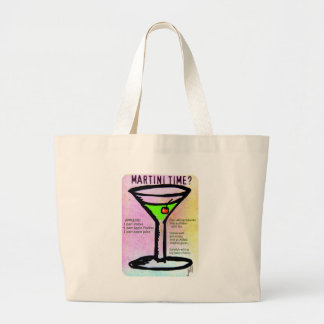 MARTINI TIME APPLETINI PASTEL PRINT with RECIPE by Bag