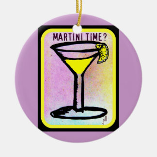 MARTINI TIME LEMON DROP PRINT CHRISTMAS ORNAMENT