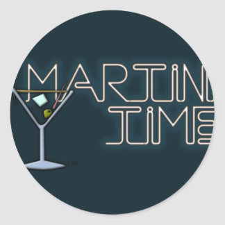 Martini Time Round Sticker