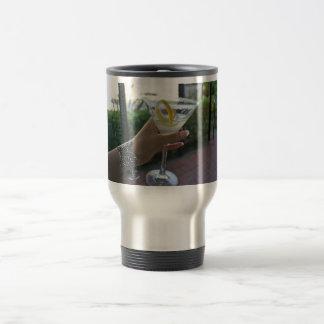 martini time stainless steel travel mug