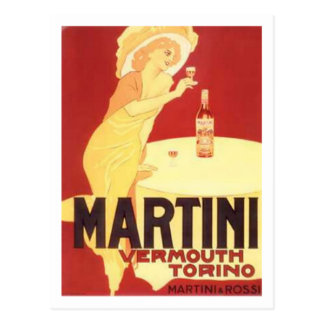 Martini Vermouth Torino Postcard