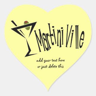Martini Ville Heart Sticker