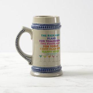 MARTINI ZEN - Plan for Happy Hour Beer Stein  Mug