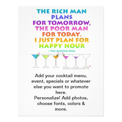 MARTINI ZEN - Plan for Happy Hour Flyer