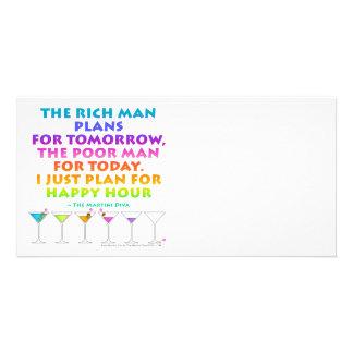 MARTINI ZEN - Plan for Happy Hour Photo Card