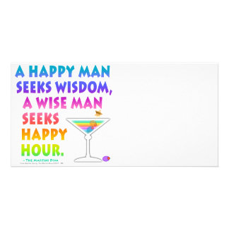 MARTINI ZEN Wise Man Seeks Happy Hour Photo Card