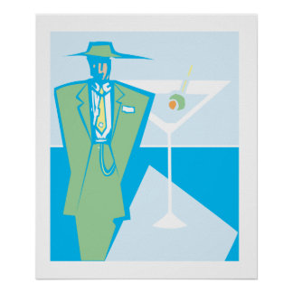 Martini Zoot Suit Poster