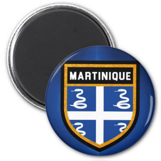 Martinique Flag 6 Cm Round Magnet