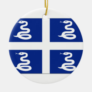 Martinique (France) Flag Christmas Ornament