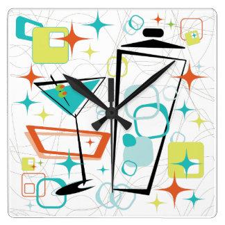 Martinis A Go-Go Clock