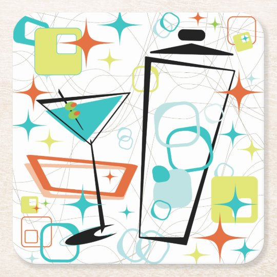 Martinis A Go-Go Drink Coasters