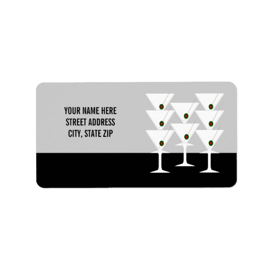 Martinis Address Mailing Labels