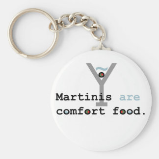 Martinis are Comfort Food Basic Round Button Key Ring