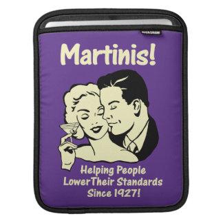 Martinis: Helping Lower Standards iPad Sleeve