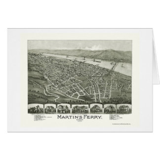 Martin's Ferry, OH Panoramic Map - 1899 Card